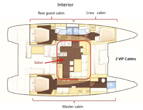 Lagoon 450F Catamaran Layout